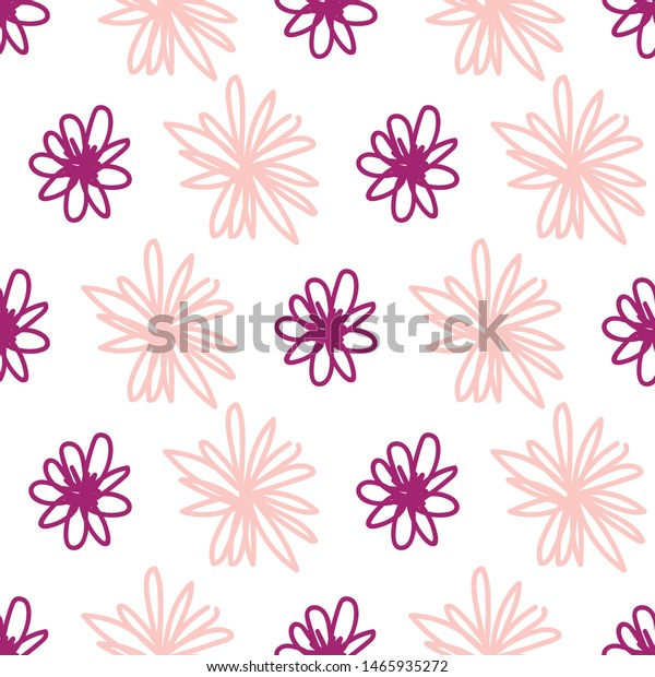 Wild Cute Girly Spring Summer Pink Stock Vector Royalty