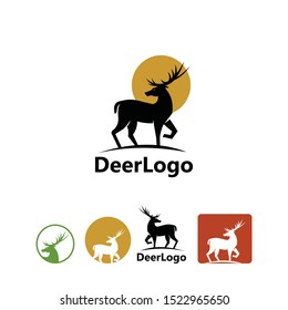 wild deer logotype, simple and elegant deer icons for company