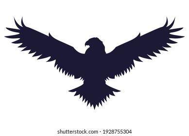 wild eagle animal silhouette icon