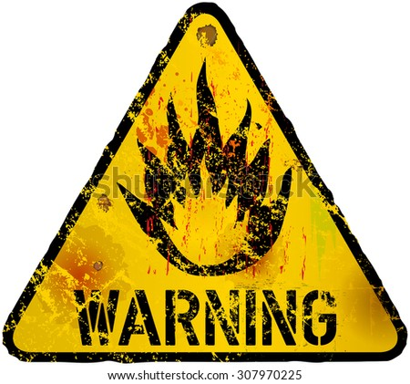 Wild Fire Warning Flammable Sign Fictional Stock Vector Royalty