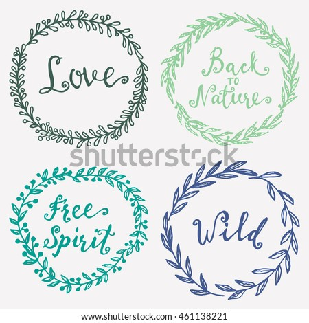 Wild Free Love Back Nature Free Stock Vector Royalty Free