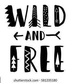 wild and free typography for print design.