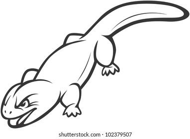 Wild Gila Monster Illustration