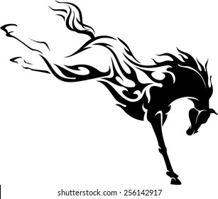 Wild Horse Flaming Power Kick
