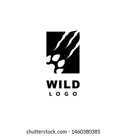 Wild Life Logo Paw and Scratch Claw