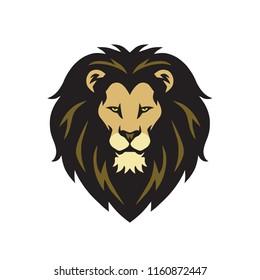 Wild Lion Head Logo Vector