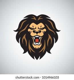 Wild Lion Logo Roaring Mascot Vector