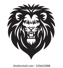 Wild Lion Roaring Logo Mascot Vector