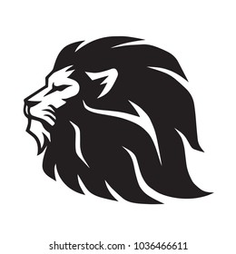 Wild Lion Vector Icon Logo Template  Design Mascot Illustration