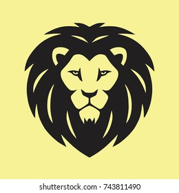 Wild Lion Vector Icon Logo