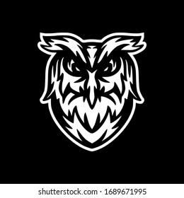 Wild Owl Head Logo Vector Template Illustration Design Mascot