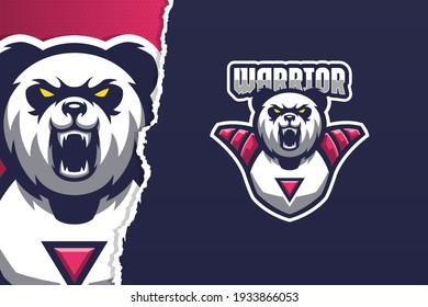 Wild Panda E-sport Game Logo Template