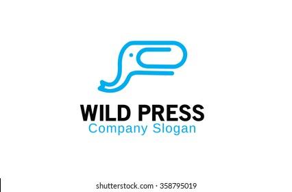 Wild Press Symbol Logo Design Illustration