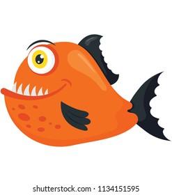A wild sea animal with large teeth depicting goliath tiger fish