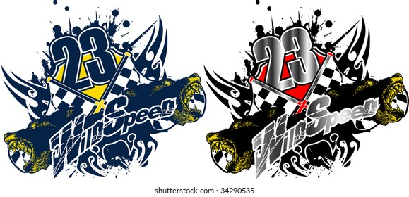 WILD SPEED Symbols with Racing compositions
