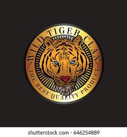 Wild Tiger Clan Logo Vector