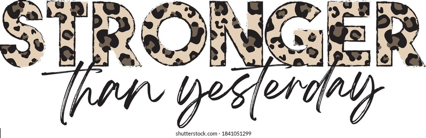 Wild typography slogan print with leopard pattern - Safari animal graphic font vector for girl tee / t shirt