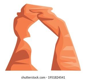 wild west rock arch shape