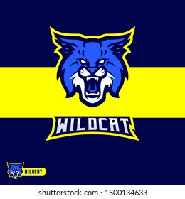 Wildcat Mascot Gaming Esport Logo Template