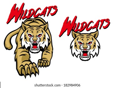 wildcat mascot images stock photos vectors shutterstock rh shutterstock com Wildcat Mascot Designs High School Wildcat Mascot Logos