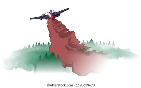 Wildfire Waterbomber Aircraft