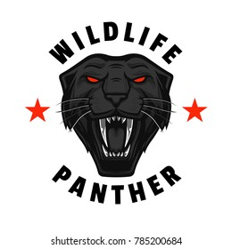 Wildlife Roaring Panther, tees design