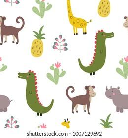Wildlife vector print