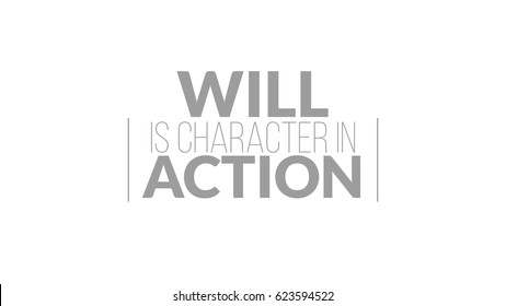 Will Is Character In Action Typography Design - Shutterstock ID 623594522