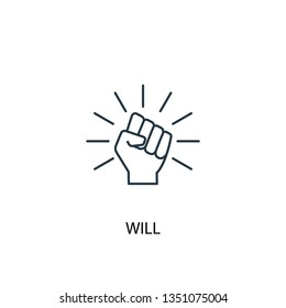will concept line icon. Simple element illustration. will concept outline symbol design. Can be used for web and mobile UI/UX