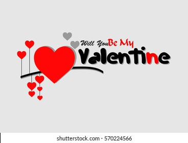 Will You Be My Valentine vector illustration Design