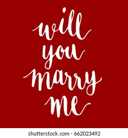 Will you marry me?Handwriting font by calligraphy process with color background that for the letter or special card.