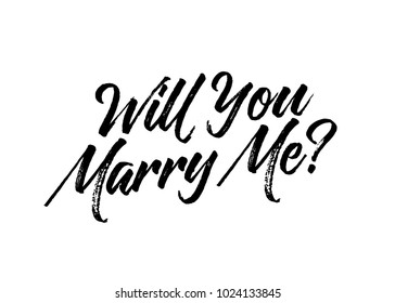 Will You Marry Me Vector Text Background