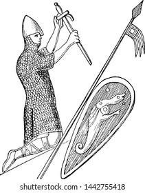 William the Conqueror, vintage illustration