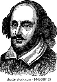 William Shakespeare, vintage engraved illustration