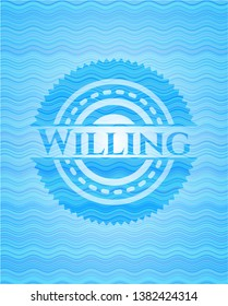Willing water representation style badge.