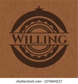 Willing wood emblem. Retro