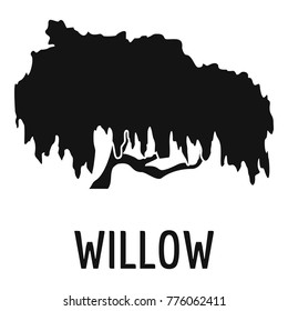 Willow tree icon. Simple illustration of willow tree vector icon for web