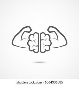 Willpower icon on white background