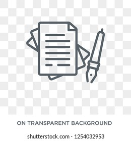 wills and trusts icon. Trendy flat vector wills and trusts icon on transparent background from law and justice collection. High quality filled wills and trusts symbol use for web and mobile