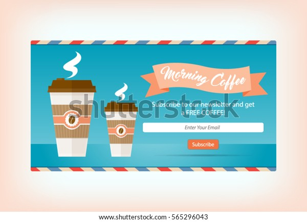 Win Free Take Away Coffee Go Stock Vector Royalty Free