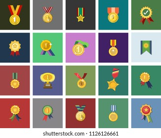 win medal icon - golden winner prize - success symbol - first place winner, trophy award