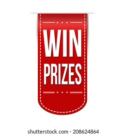 Win prizes banner design over a white background, vector illustration