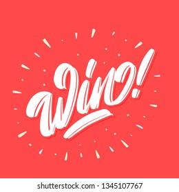Win! Vector lettering.