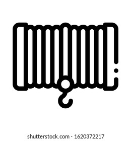 Winch Equipment Icon Vector. Outline Winch Equipment Sign. Isolated Contour Symbol Illustration