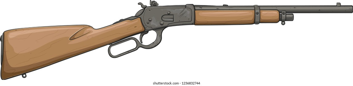 Winchester Rifle 1892 (Vector Cartoon Art)