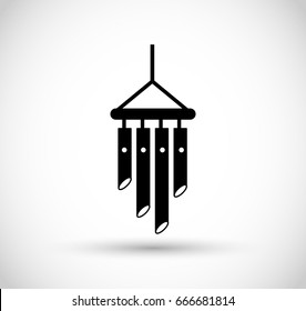Wind chimes icon vector