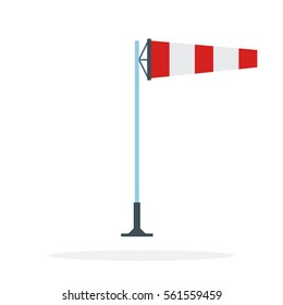 Wind cone vector flat material design object. Isolated illustration on white background.