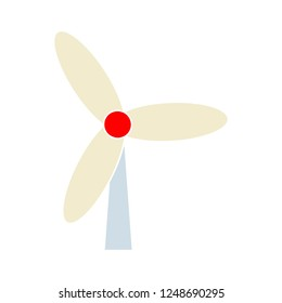 Wind energy icon - vector energy concept with wind turbine symbol - design element of windmill, alternative energy concept