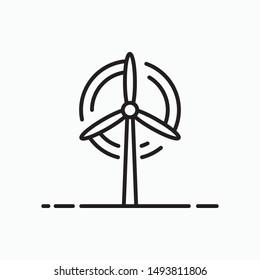 Wind energy icon, vector symbol