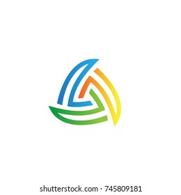 Wind Energy Logo And Icon Element Template